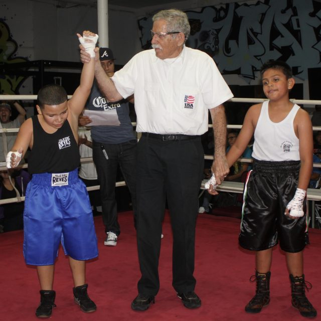 Bout #7 featured 10-year-old Antonio Padilla (83 lbs.) from the Legacy Training Center, Vista going up against Adrian Mendez (86 lbs.) from the ABC Youth Foundation Mongoose Boxing Gym, San Diego.