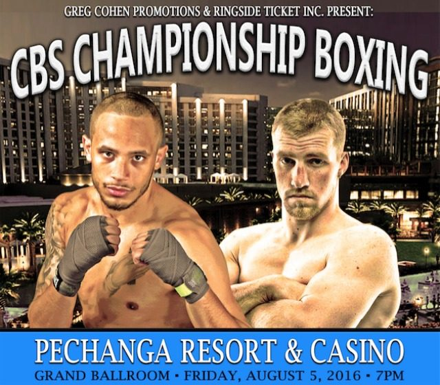 Thursday weigh-in results for the Friday, August 5, 2016 CBS Championship Boxing Show