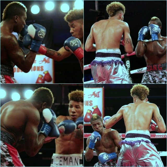 Once they were back on their, Malik Hawkins, the boxer took full control and landed more than a dozen hard shots to th head.