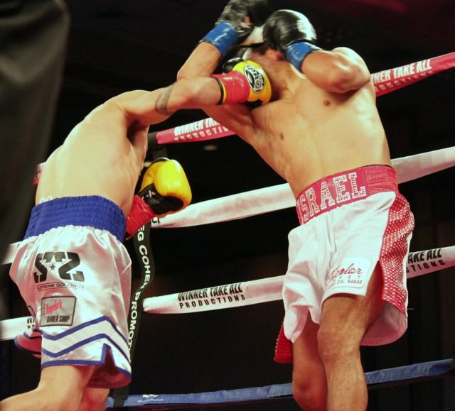 The punch that ended Israel Hernandez's night was this big overhand right that landed flush on his chin,