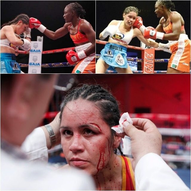 The bad night she will remember for the rest of her life - the night this cut opened up and the ring doctor called for the stoppage.