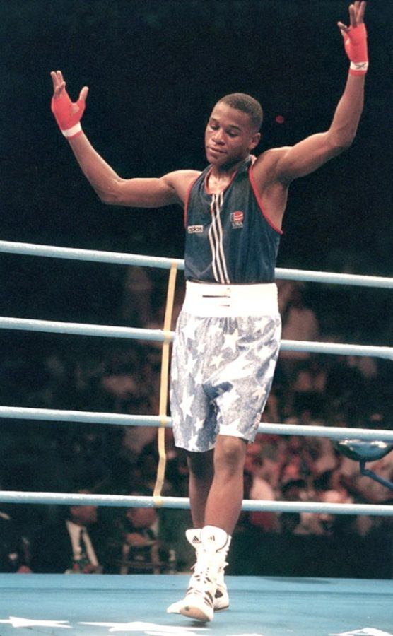 Floyd Mayweather, Jr's bronze finish in the Atlanta Games was certainly controversial. After losing a controversial 10-9 decision to the Bulgarian Serafim Todorov, which caused a supervisor of the officials to resign in protest, Mayweather of course went on to an undefeated career in the Pros.