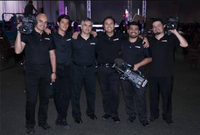 What would a top notch boxing show be without these guys - the eve ning's camera crew. boxingcamera crew