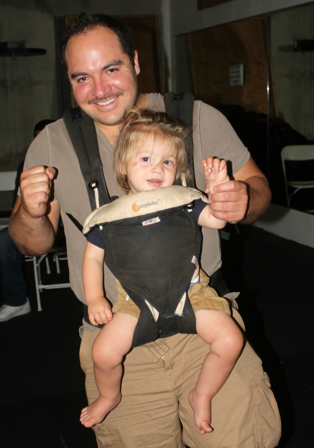 Another of the celebrities at Friday's show included young Maddox and his dad Efren Gutierrez