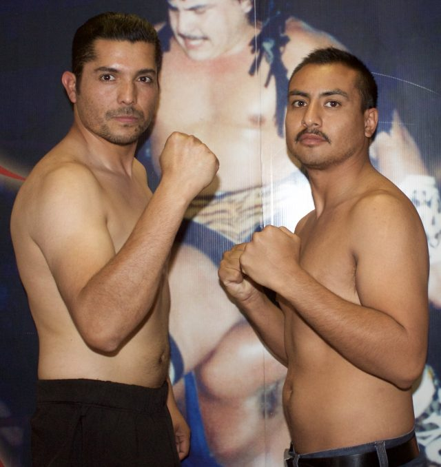 """Bout #1 has Johnny """"Azteca"""" Rosales of Los Angeles, Calif. making his debt against"""