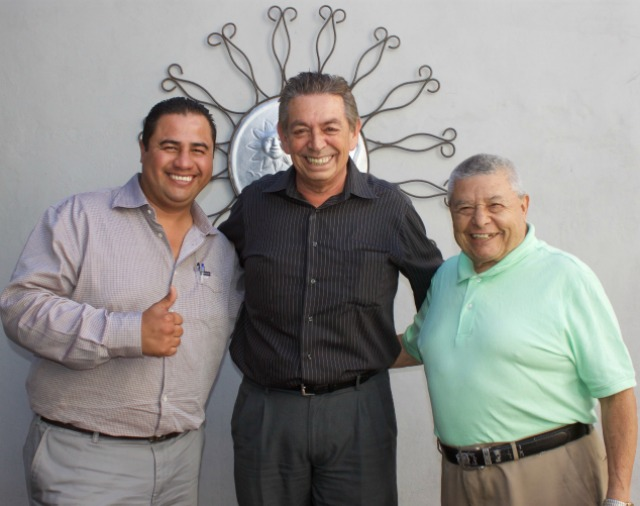 You can't have a show without these three Tijuana stables, from the Tijuana Boxing Commission, award boxing commentator Fernando Parama and a former boxing standout who handles all of the boxer's gloves, .