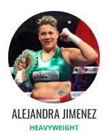 After defeating Martha Salazar (2363/4 lbs. back on March 18, 2016,In her last outing, the 32 year-old Women's Heavyweight Champion 12-0-1, 9 KOs defeated Irais Hernandez (167 lbs. at the Oasis Hotel in Cancun by a unanimous decision.